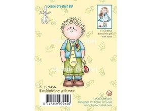 Leane Creatief - Lea'bilities Klare stempler, Bambini dreng med en rose