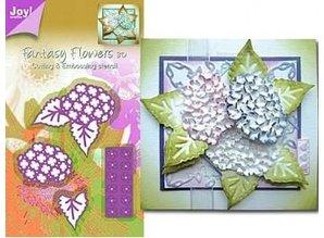 Joy!Crafts und JM Creation Joy Crafts, opskæring og prægning stencil Mery stencil blomst struktur.
