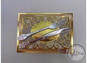 Joy!Crafts und JM Creation Stamping and embossing stencils, rectangular frame