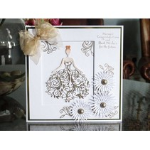 Stamping and punching template, Tattered Lace, Bella