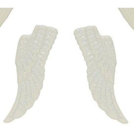 Embellishments / Verzierungen Metal Set Flügel, 4 Stück, weiß