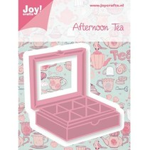 Punching and embossing template, tea box