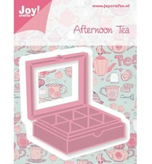 Joy!Crafts und JM Creation Punching and embossing template, tea box