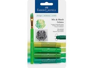 FARBE / INK / CHALKS ... Gelatos Kreider, greens