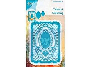 Joy!Crafts und JM Creation Stempling og prægning stencil, frame rektangel filigrane, Ov ale ramme og label