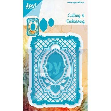 Joy!Crafts und JM Creation Stanz- und Prägeschablone, Filigräne Rahmen Rechteck, Ov ale Rahmen und Label