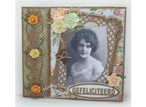 Joy!Crafts und JM Creation Stamping and Embossing stencil, frame rectangle Filigräne, Ov ale frame and label