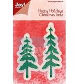 Joy!Crafts und JM Creation Stansning og prægning skabelon, træer