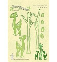 Leane Creatief - Lea'bilities Punzonatura e goffratura modello Lea'bilitie, renne e alberi
