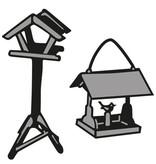 Marianne Design Birdhouse y el estampado de la plantilla, de Tiny