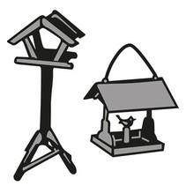 Stempelen en embossing stencil, Tiny's Birdhouse