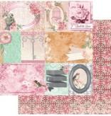 Bo Bunny Designer papir, 30,5 x 30,5 cm, Bo Bunny Madeleine lykke