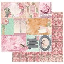 Designer papir, 30,5 x 30,5 cm, Bo Bunny Madeleine lykke