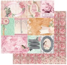 Bo Bunny Carta Designer, 30,5 x 30,5 centimetri, Bo Bunny Madeleine felicità