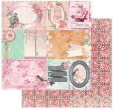 Bo Bunny Designer paper, 30.5 x 30.5 cm, Bo Bunny Madeleine happiness