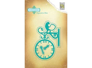 Nellie snellen Punching and embossing template Vintasia, vintage clock
