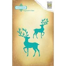Stansning og prægning skabelon Vintasia, rensdyr