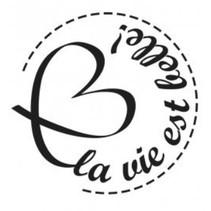 Holzstempel, französische Texte