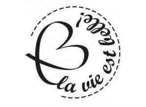 Stempel / Stamp: Holz / Wood Holzstempel, franske tekster