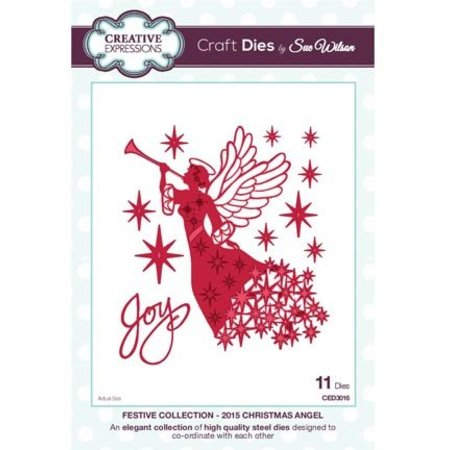Creative Expressions Stanz- und Prägeschablone, The Festive Collection,  Christmas Angel