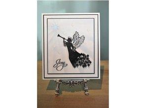Creative Expressions Stampaggio e goffratura stencil, The Festive Collection, Angelo di Natale