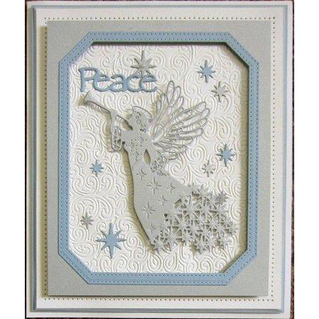 Creative Expressions Stempling og prægning stencil, The Festive Collection, julen Angel