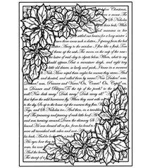 Creative Expressions Rubber stamp background with text