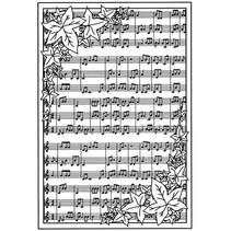 Caucho fondo sello con notas