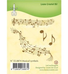 Leane Creatief - Lea'bilities Transparent stamps, sheet music
