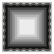 Stansning og prægning skabelon Craftables, 8 frame firkanter