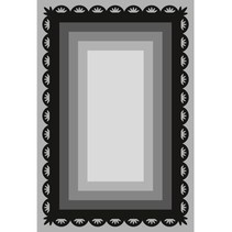 Punching and embossing template Craftables, 6 frame rectangles