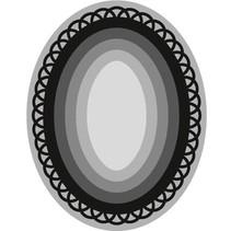 Stanz- und Prägeschablone, Craftables, 6 Rahmen Ovale