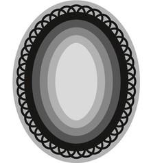 Marianne Design Punzonatura e template goffratura craftabili, 6 cornice ovale