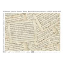 Precious Soft Papir 35x50cm - Musik Sheets