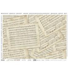 DECOUPAGE AND ACCESSOIRES Precious 35x50cm Carta Soft - fogli di musica