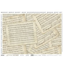 DECOUPAGE AND ACCESSOIRES Precious Soft Paper 35x50cm - Music Sheets
