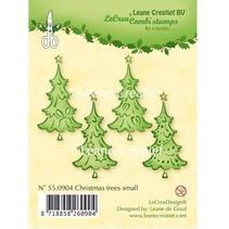 sellos transparentes, árboles de Navidad