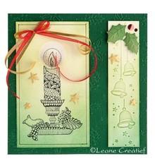 Leane Creatief - Lea'bilities Timbri trasparenti, candela con candeliere