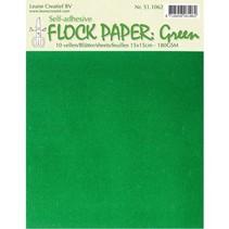 Selbstklebendes Flock Papier, grün