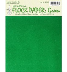 BASTELZUBEHÖR / CRAFT ACCESSORIES Selbstklebendes Flock Papier, grün