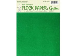 BASTELZUBEHÖR / CRAFT ACCESSORIES Self Flock paper, green