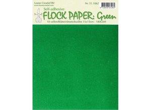 BASTELZUBEHÖR / CRAFT ACCESSORIES Self Flock papir, grøn