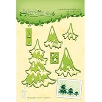 Ponsen en embossing sjabloon Lea'bilitie, kerstbomen