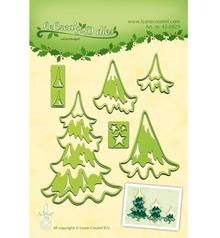 Leane Creatief - Lea'bilities Perforación y la plantilla de estampado Lea'bilitie, árboles de Navidad