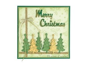 Leane Creatief - Lea'bilities Punching and embossing template Lea'bilitie, Christmas trees