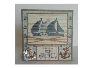 Joy!Crafts und JM Creation Transparent stempel på og i havet