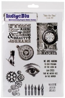 "IndigoBlu Rubber stamp, IndigoBlu, ""Take The Time"", A5"