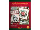 KARTEN und Zubehör / Cards A5 Bastelbuch para 6 tarjetas de Navidad 3D + 6 Tarjeta Layouts