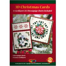 A5 Bastelbuch for 6 3D julekort + 6 Card Layouts