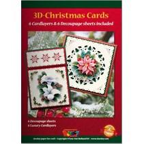 A5 Bastelbuch voor 6 3D kerstkaarten + 6 Card lay-outs